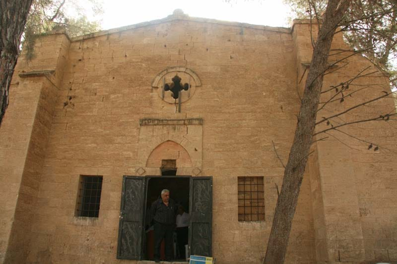Exterior of the Church of Ascension and of Prophet Elias at Maaloul