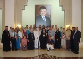"Participants of the ""East-West Dialogue Peace-Building Seminar""."
