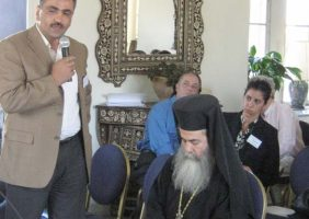 His Beatitude at the Council of the Religious Institutions of the Holy Land