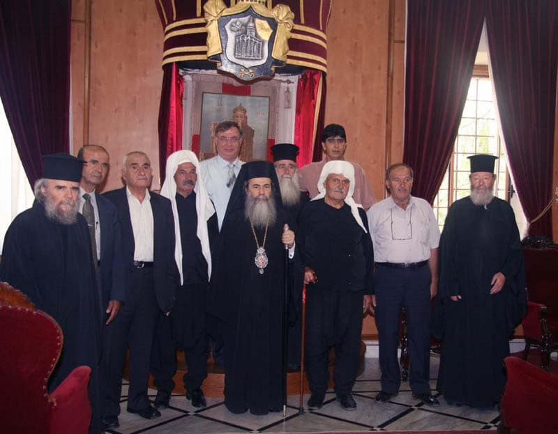 His Beatitude with Dr. Antraous and representatives of the Druze Community of the Golan Heights.