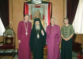 His Beatitude with Primate Most Rev. Hiltz & Anglican Bishop Right Rev. Dawani.
