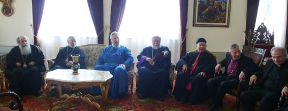The Presidents of the CCME at the Holy Archdiocese of Cyprus.