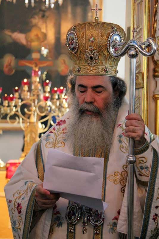 H.B. during His address on the Nativity of Theotokos at St. Nikolas in Joensuu.