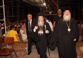 H.B. with the Patriarchical Representative Archbishop Theophylactos.