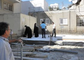His Beatitude inspecting the place of the Hexarchy under renovation