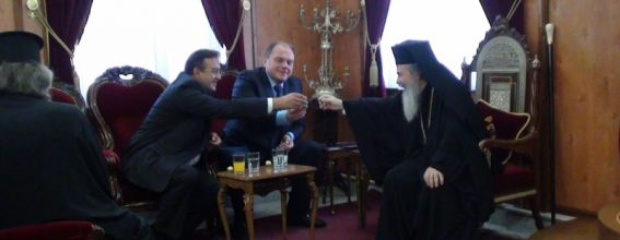 His Holy Beatitude meeting with the Minister Mr. Kulyniak.