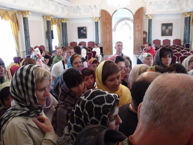 Executive members of travel agencies from Russia in the Patriarchate