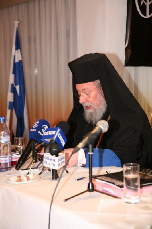 H.B. Chrysostomos II, Archbishop of Cyprus at the Council.