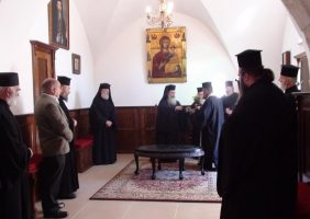 Blessing of the Holy Water at the new room of Epitropikon (meeting room)