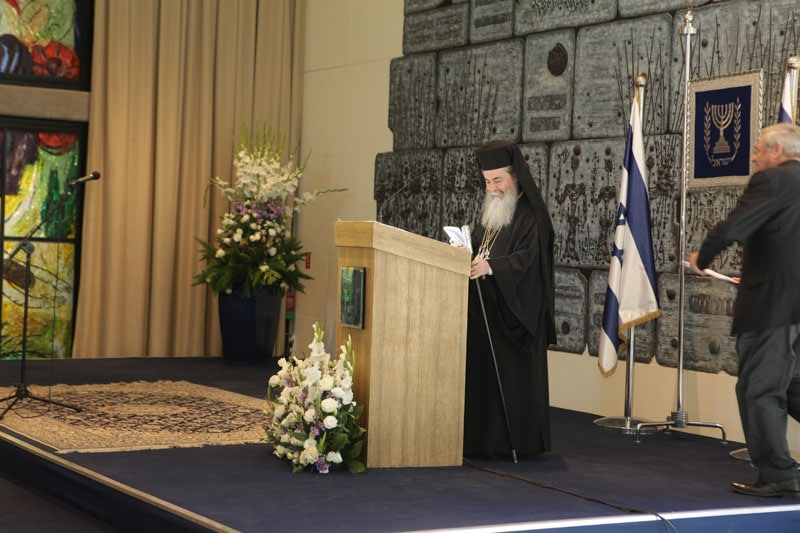 His Beatitude speaking in the Conference.