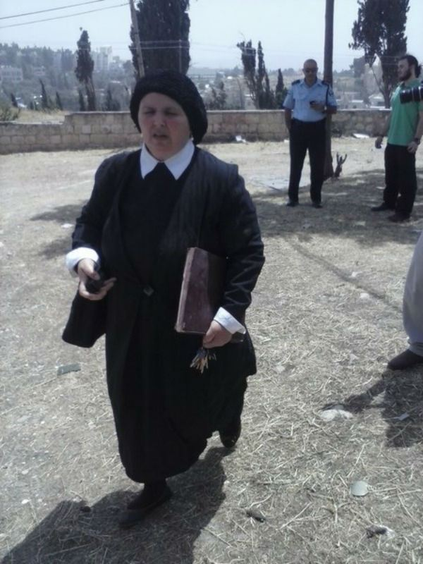 The religious woman, reprimanding