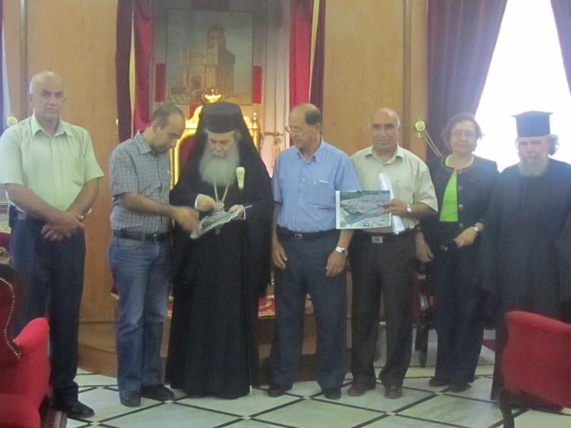His Beatitude with members of the Community of Birzet
