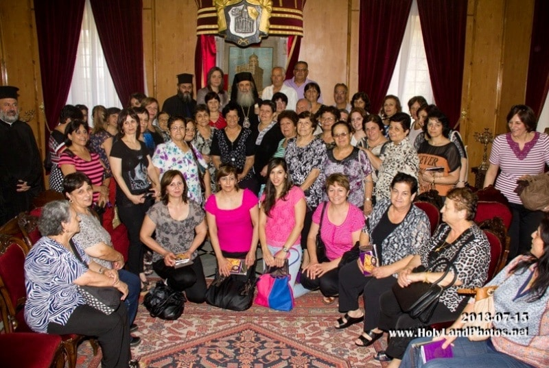 The Women's Assosciation of the town of Rene with the Patriarch
