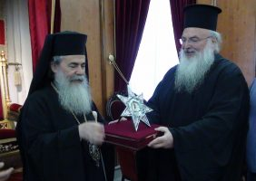 The Archbishop of Jordan with His Beatitude