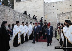 Reception of His Beatitude and retinue at Gethsemane