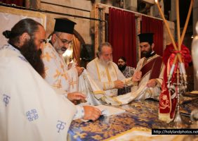 The Most Reverend Isychios, preparing for the ordainment
