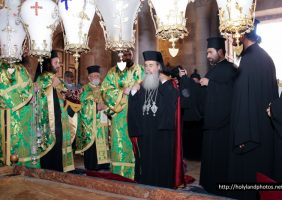 Welcoming His Beatitude to the Site of the Apokathelosis