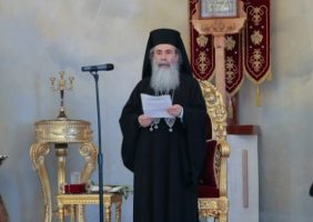 His Beatitude at the Divine Liturgy