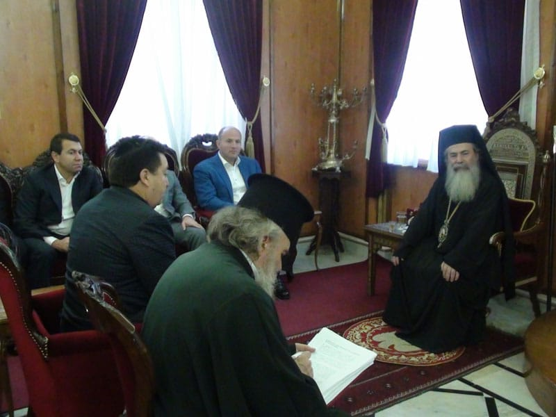His Beatitude with distinguished personalities from Ukraine