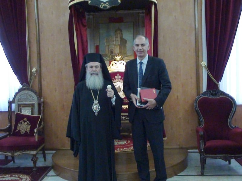 His Beatitude with the French Consul, Mr Magro