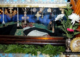 The holy relics of St Savvas the Consecrated