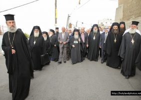 His Beatitude and retinue in St George, Ib'lin