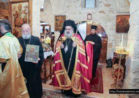 The Archbishop of Sevasteia entering the church of St Demetrius