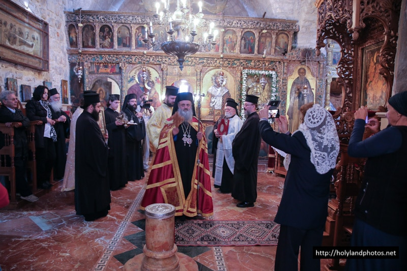 The Archbishop of Lydda at the H. Monastery of the Archangels, Jerusalem