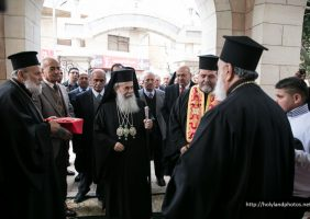 Welcoming His Beatitude to the Church of the Holy Forefathers – Beit Sahour