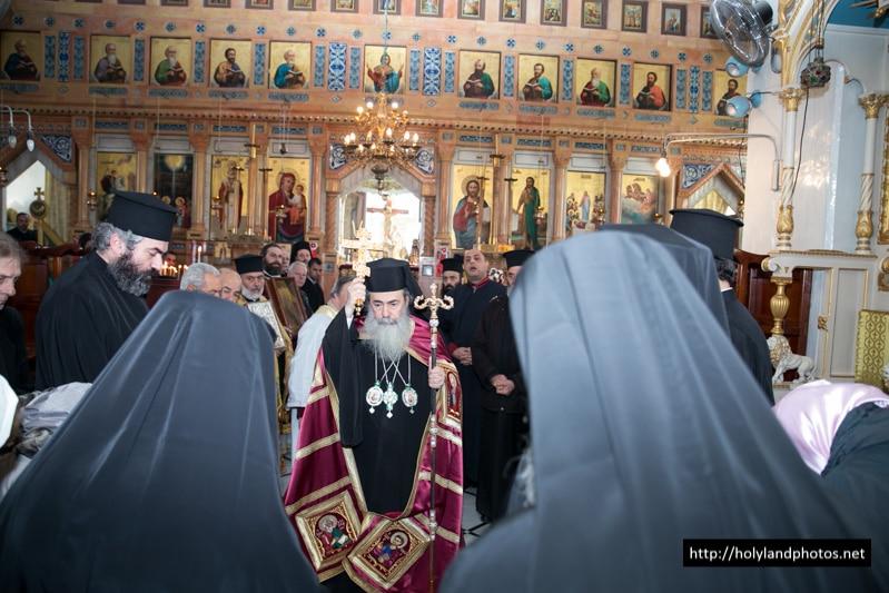 His Beatitude in the Church of St Nikolas, Bet-Jala