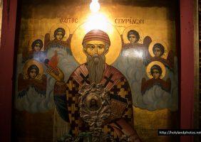 The holy icon of St Spyridon