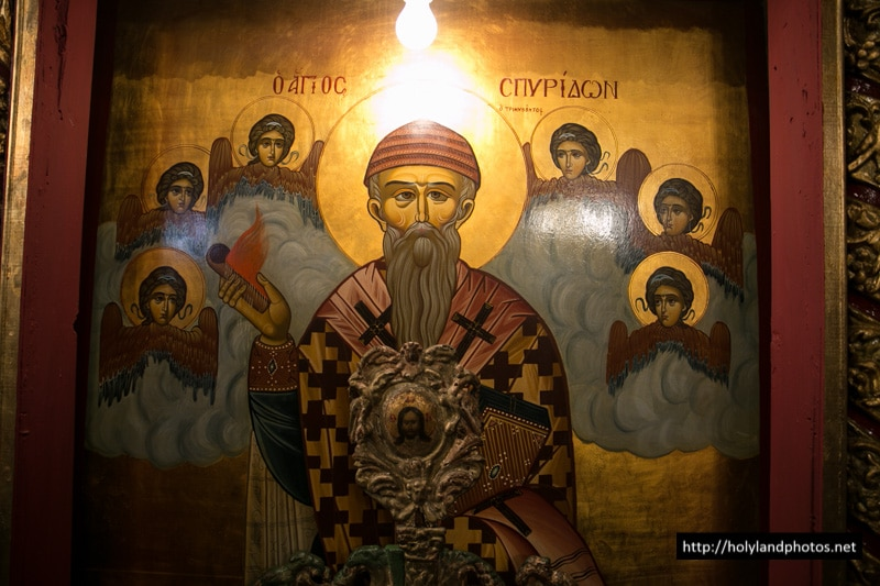 The holy icon of St Spyridon