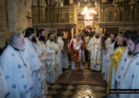 The divine Liturgy at the Holy Sepulchre