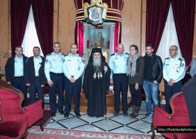 His Beatitude with the Israeli Police