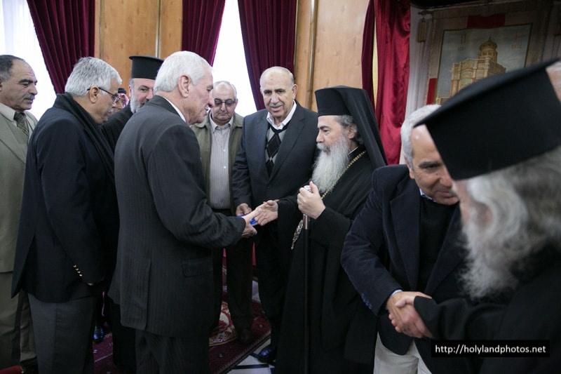 Waqf representatives with His Beatitude