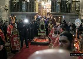 Vigil at the Holy Sepulchre for the feast of the Circumcision of Christ