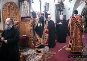 His Beatitude officiating at St Constantine