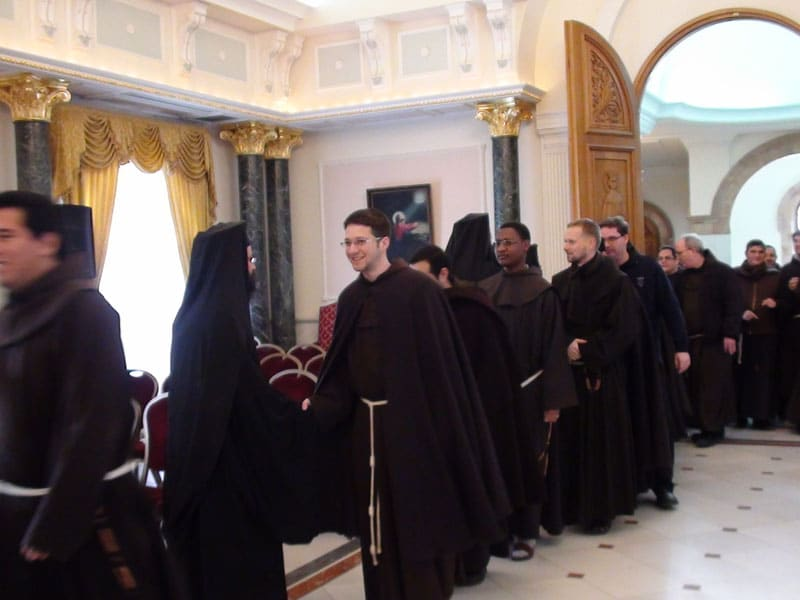 The Franciscan Friars visiting the Patriarchate