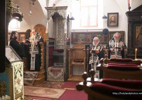 His Beatitude leading the Memorial Service