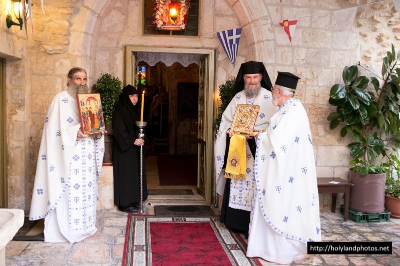 Welcoming the Archbishop at the Holy Monastery of Seyda Naya