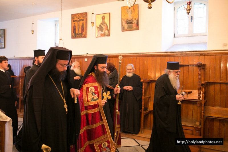His Eminence, the Archbishop of Hierapolis at the Patriarchal School