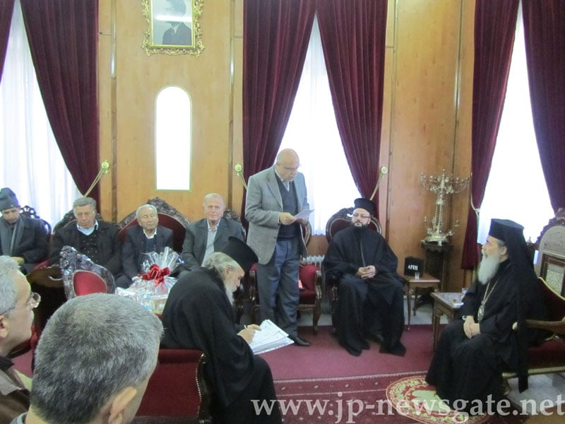 His Beatitude receives the Community of Abu-Snan