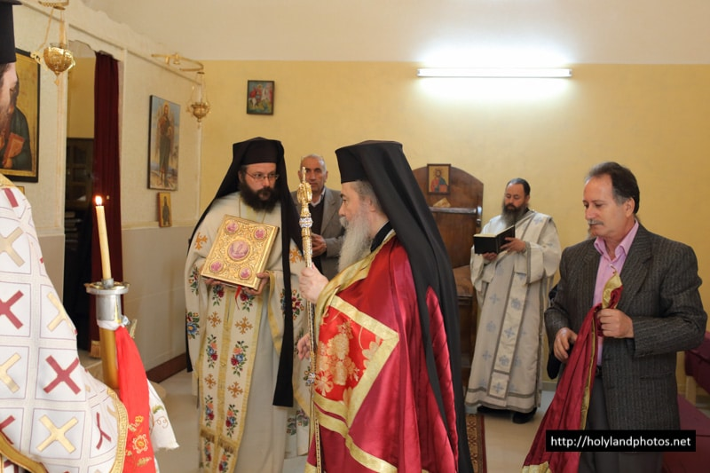 His Beatitude in the Church of the Transfiguration