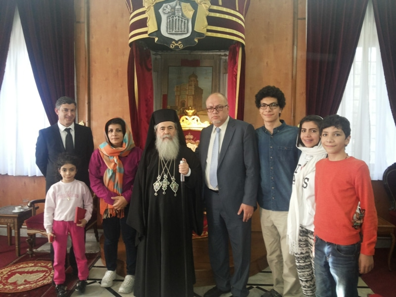 His Beatitude and the Minister of Public Works of Jordan