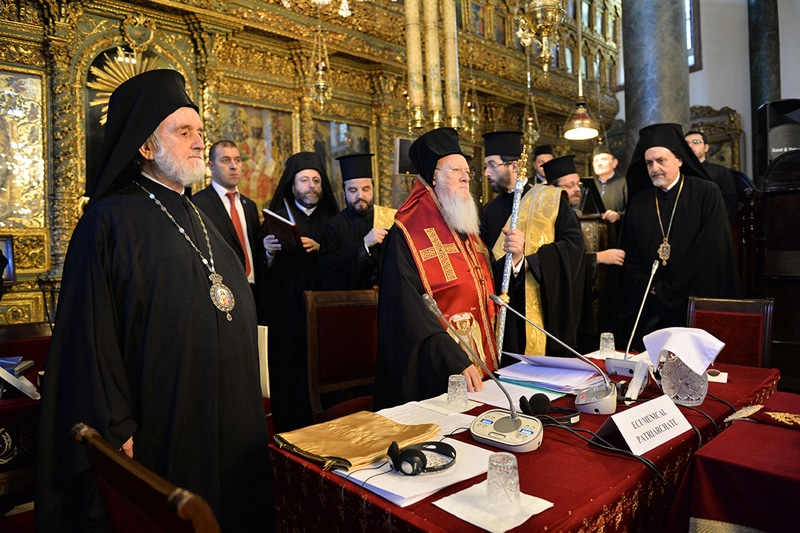 His All-Holiness the Ecumenical Patriarch on the second day of the Synaxis