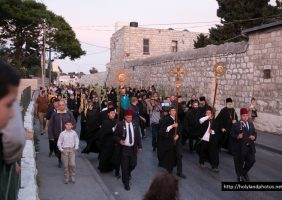 Procession from the Holy Monastery of Palm Sunday, at Bethphage