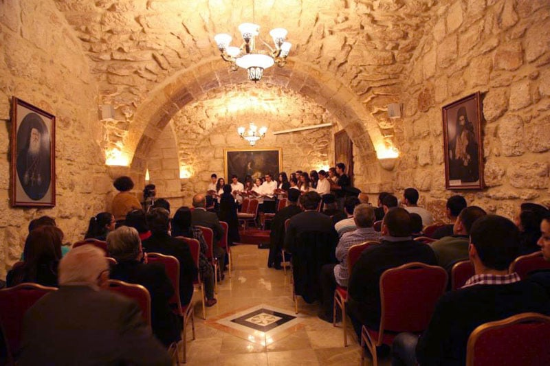 Performance by Alimos Music School at the Hegoumen's Quarters, in Bethlehem