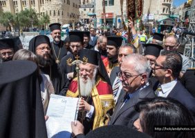 The Patriarchal Commissioner in Bethlehem welcomes His All-Holiness
