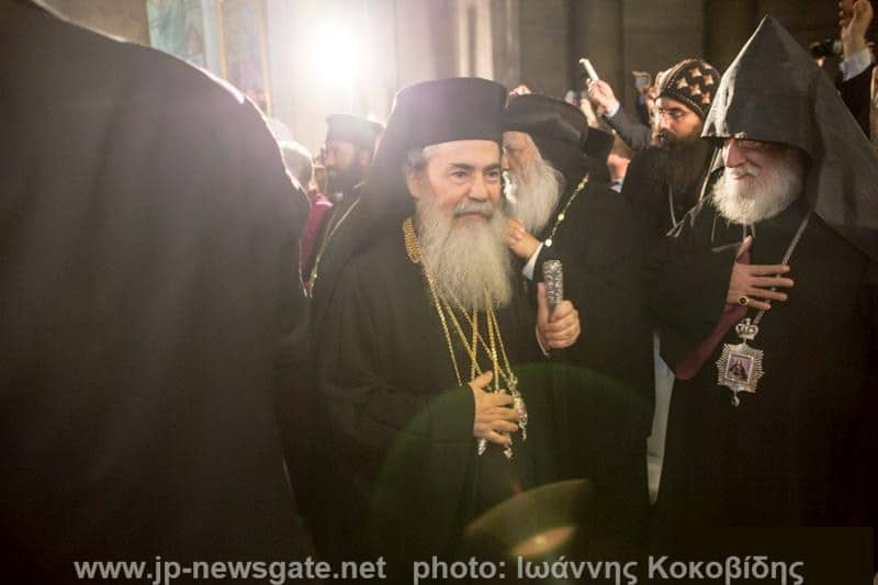 His Beatitude Theophilos of Jerusalem with Armenian Patriarch Nourhan