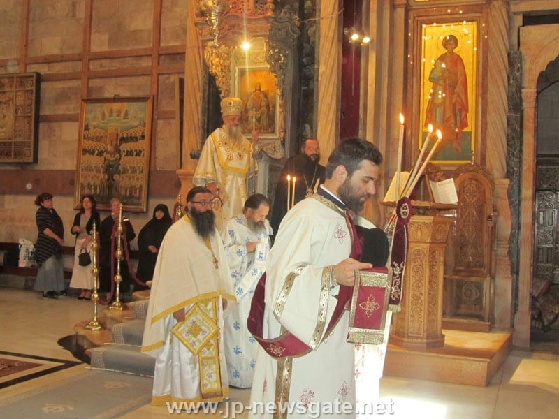 His Eminence the Archbishop of Lydda in the Church of the Resurrection